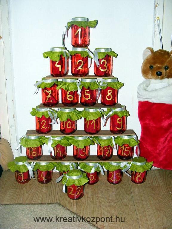 c46ffc1669 Karácsonyi pályázat - Adventi naptár bébiételes üvegből