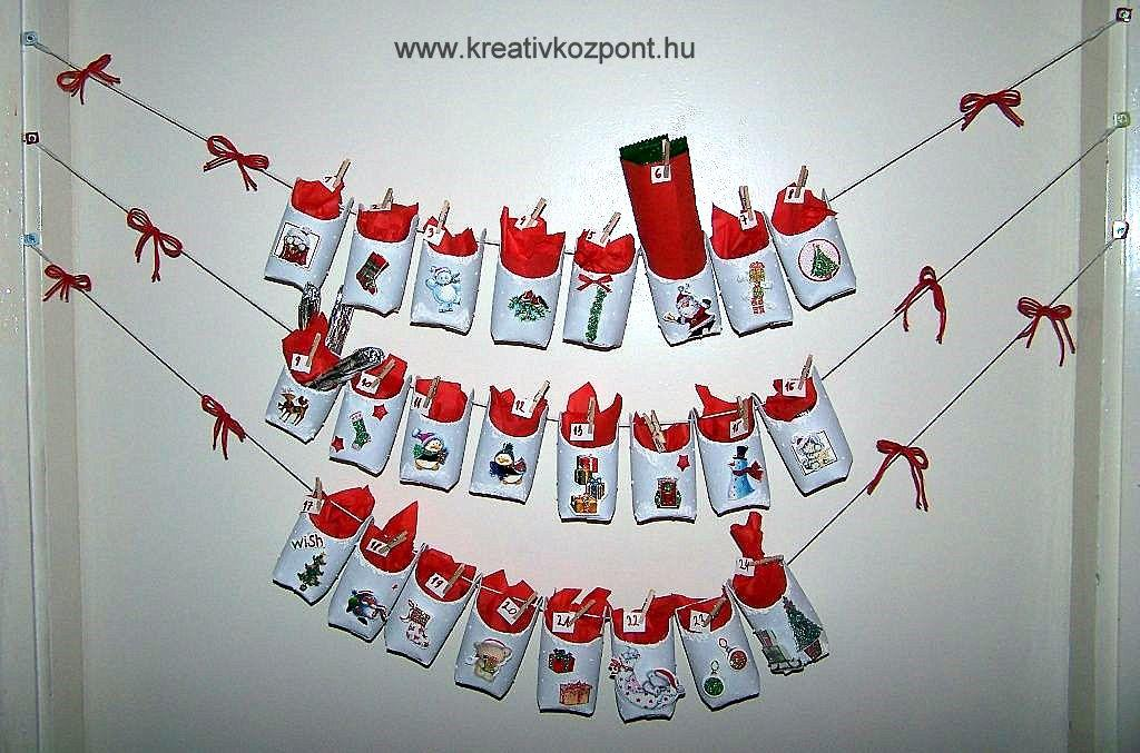 7b9e0c5ecb Karácsonyi pályázat - Adventi naptár papír gurigákból