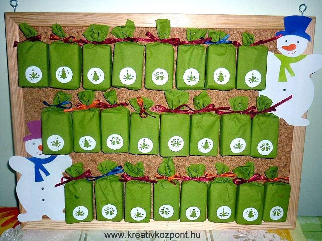 naptár készítés karácsonyra Adventi naptár | Kreatív Központ naptár készítés karácsonyra
