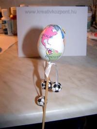 Húsvéti pályázat - Hungarocell tojás focirajongóknak - Kész
