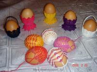 Húsvéti pályázat - Horgolt tojás, tojástaró - Kész