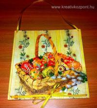 Húsvéti pályázat - Húsvéti kép decoupage technikával  - Kész