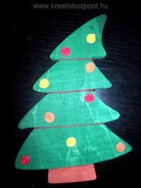 Karácsonyi pályázat - Karácsonyfa alakú függődísz