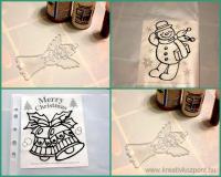 Karácsonyi pályázat - Üvegfestés - Sablonok, kontúrok