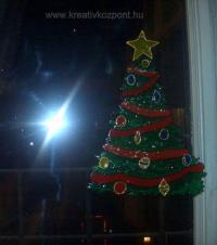Karácsonyi pályázat - Karácsonyfa ablakdísz - Kész