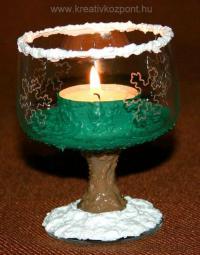 Karácsonyi pályázat - Karácsonyi asztali dísz - Kész