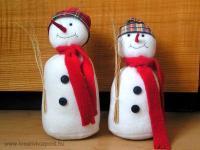 Karácsonyi pályázat - Hóemberek - Ablakdísz