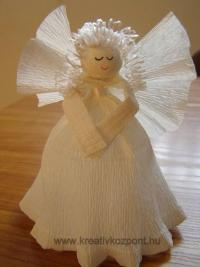 Karácsonyi pályázat - Angyalka krepp-papírból