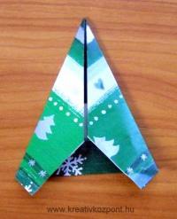 Karácsonyi pályázat - Karácsonyi csillag papírból - Egy ág kész