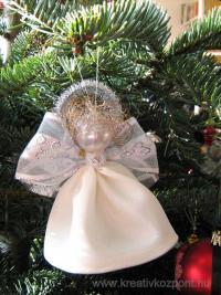 Karácsonyi pályázat - Karácsonyi angyal selyemből