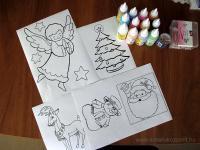 Karácsonyi pályázat - Karácsonyi ablakdísz üvegmatricából - Hozzávalók
