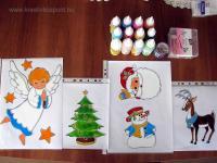 Karácsonyi pályázat - Karácsonyi ablakdísz üvegmatricából - Készülőben
