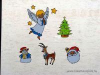 Karácsonyi pályázat - Karácsonyi ablakdísz üvegmatricából - Kész