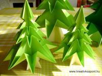 Karácsonyi pályázat - Karácsonyfa papírból