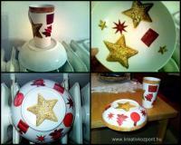 Karácsonyi pályázat - Tányér és pohár díszítés - Készülőben