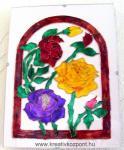 Anyák napi pályázat - Rózsalugas - Üvegfestett falikép