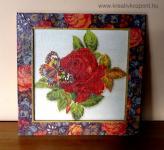 Anyák napi pályázat - Rózsás falikép
