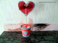 Anyák napi pályázat - Szív cserépben