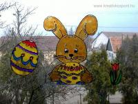 Húsvéti pályázat - Húsvéti ablakdísz - Ablakon
