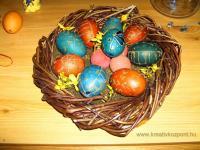 Húsvéti pályázat - Hímestojások mohakosárban - Kész