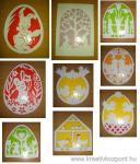 Húsvéti pályázat - Húsvéti ablakdísz filigrán technikával