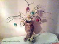 Húsvéti pályázat - Csuhéból font tojás