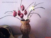 Húsvéti pályázat - Csuhévall díszített tojás