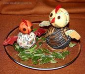 Húsvéti pályázat - Tyúkok hungarocellből - Kész