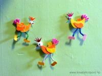 Húsvéti pályázat - Húsvéti csibék dekorgumiból - Kész