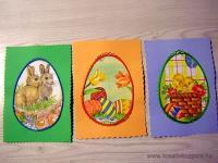 Húsvéti pályázat - Húsvéti képeslap hímzéssel - Kész