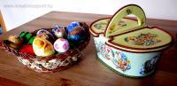 Húsvéti pályázat - Húsvéti kosárka tojásokkal - Kész