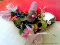 Húsvéti pályázat - Nyuszis tojástartós dísz - Kész