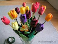 Húsvéti pályázat - Virágos lakásdísz - Kész a dísz