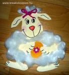 Húsvéti pályázat - Bárányos ablak-, ajtódísz