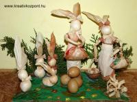 Húsvéti pályázat - Nyúlcsalád csuhéból