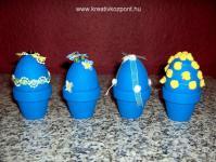 Húsvéti pályázat - Kék húsvéti tojások, kis cserepekben