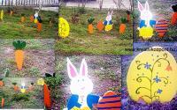Húsvéti pályázat - Óriás sárgarépák, nyuszi, tojás
