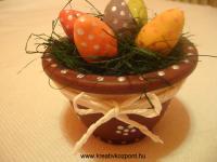 Húsvéti pályázat - Színes tojások díszes cserépben
