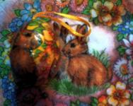 Húsvéti pályázat - Műanyag tojások szalvéta technikával