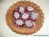 Húsvéti pályázat - Húsvéti tojások üvegmatrica festékkel