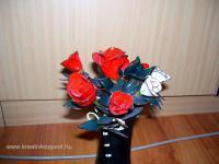 Húsvéti pályázat - Festett virágok drótból - Kész