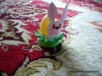 Húsvéti pályázat - Tojástartó nyuszi WC papír gurigából