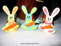Húsvéti pályázat - Talpas, répás kartonnyuszi