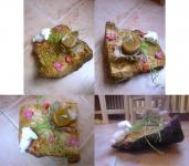 Húsvéti pályázat - Asztal dísz hasított kérges fűzfából - Kész