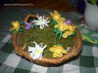 Húsvéti pályázat - Krepp virágok