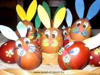 Húsvéti pályázat - Nyúlnak álcázott tojások