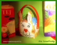 Húsvéti pályázat - Nyuszikosár tejesdobozból
