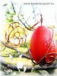Húsvéti pályázat - Húsvéti tojás-abroncs réz-villanyvezetékből