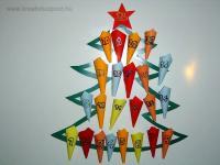 Karácsonyi pályázat - Adventi naptár hűtőmágnesekből - Kész