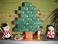 Karácsonyi pályázat - Adventi naptár gyufásdobozokból